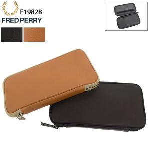 フレッドペリー 財布 FRED PERRY メンズ ジップ アラウンド レザー パース ウォレット ...