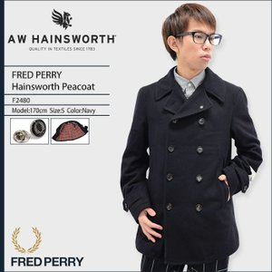 フレッドペリー FRED PERRY ジャケット メンズ ヘインズワース ピーコート 日本企画(F2480 Hainsworth Peacoat JAPAN LIMITED アウター) icefield