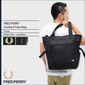 フレッドペリー FRED PERRY トートバッグ コーデュラ トート バッグ 日本企画(FREDPERRY F9246 Cordura Tote Bag メンズ レディース)|icefield