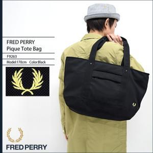 フレッドペリー FRED PERRY トートバッグ ピケ トート バッグ 日本企画(FREDPERRY F9263 Pique Tote Bag メンズ レディース)|icefield