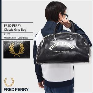 フレッドペリー FRED PERRY ボストンバッグ クラシック グリップ バッグ(FREDPERRY L1203 Classic Grip Bag 2Way メンズ レディース)|icefield