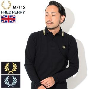 フレッドペリー FRED PERRY ポロシャツ 英国製 長袖 メンズ M7115 イングランド フレッド ペリー ポロ 男性用(鹿の子 Polo トップス)|icefield