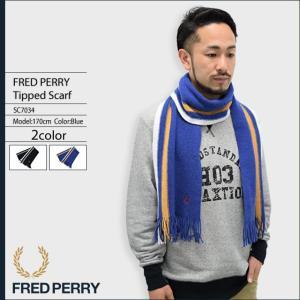 フレッドペリー FRED PERRY スカーフ メンズ ティップド(SC7034 Tipped Scarf マフラー ストール ROBERT MACKIE 日本限定カラー 小物)|icefield