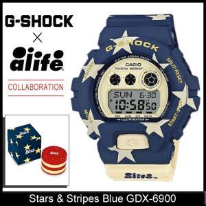 ジーショック G-SHOCK×エーライフ コラボレーション スター & ストライプ ブルー GDX-6900 エーライフ(G-SHOCK×ALIFE  GDX-6900AL-2)|icefield