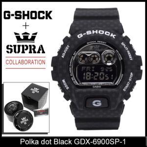 ジーショック G-SHOCK×スープラ コラボレーション ポルカドット 黒 GDX-6900SP-1(G-SHOCK×SUPRA Collaboration Polka dot GDX-6900SP-1)|icefield