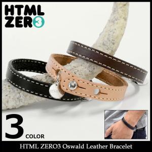 エイチティエムエル ゼロスリー HTML ZERO3 ブレスレット メンズ オズワルド レザー(Oswald Leather Bracelet アクセサリー)|icefield