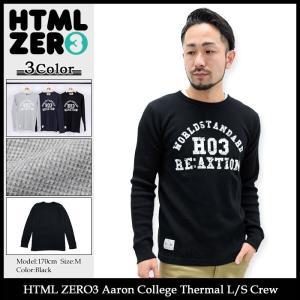 エイチティエムエル ゼロスリー HTML ZERO3 カットソー 長袖 メンズ アーロン カレッジ サーマル(Aaron College Thermal L/S Crew トップス)