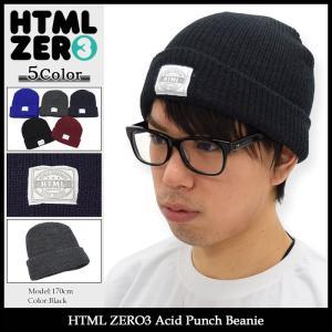 エイチティエムエル ゼロスリー HTML ZERO3 ニット帽 アシッド パンチ ビーニー(html zero3 Acid Punch Beanie 帽子 ニットキャップ)