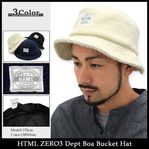 エイチティエムエル ゼロスリー HTML ZERO3 ハット メンズ デプト ボア バケットハット(html zero3 Dept Boa Bucket Hat 帽子)