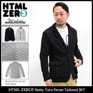 エイチティエムエル ゼロスリー HTML ZERO3 ジャケット メンズ ナッティ ターン スウェット テーラード(Natty Turn Sweat Tailored JKT)