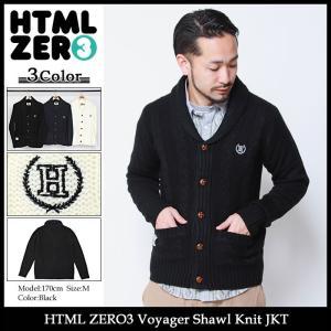 エイチティエムエル ゼロスリー HTML ZERO3 ジャケット メンズ ボイジャー ショール ニット(Voyager Shawl Knit JKT アウター)