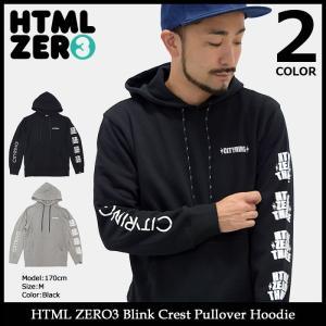 【送料無料】エイチティエムエル ゼロスリー HTML ZERO3 プルオーバー パーカー メンズ ブリンク クレスト(Blink Crest Pullover Hoodie)|icefield