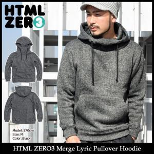 【送料無料】エイチティエムエル ゼロスリー HTML ZERO3 プルオーバー パーカー メンズ マージ リリック(Merge Lyric Hoodie HTML-PA150)|icefield
