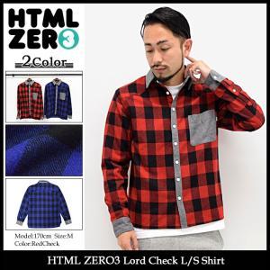 エイチティエムエル ゼロスリー HTML ZERO3 シャツ 長袖 メンズ ロード チェック(html zero3 Lord Check L/S Shirt トップス)|icefield