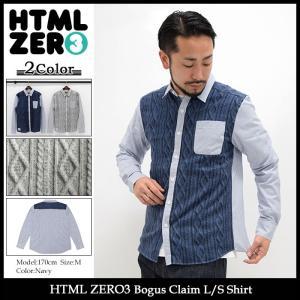 エイチティエムエル ゼロスリー HTML ZERO3 シャツ 長袖 メンズ ボウガス クレーム(Bogus Claim L/S Shirt カジュアルシャツ トップス)