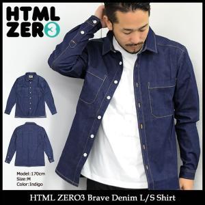 【送料無料】エイチティエムエル ゼロスリー HTML ZERO3 シャツ 長袖 メンズ ブレーブ デニム(Brave Denim L/S Shirt トップス HTML-SHT131)|icefield