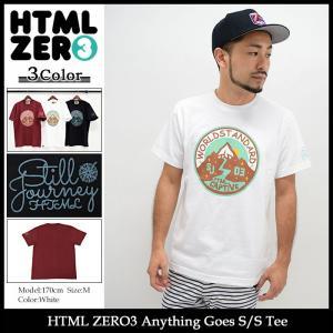 エイチティエムエル ゼロスリー HTML ZERO3 Tシャツ 半袖 メンズ エニシング ゴーズ(html zero3 Anything Goes S/S Tee トップス)