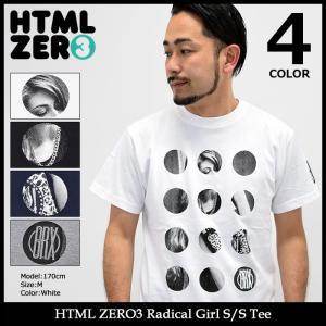 エイチティエムエル ゼロスリー HTML ZERO3 Tシャツ 半袖 メンズ ラディカル ガール(Radical Girl S/S Tee カットソー トップス)|icefield