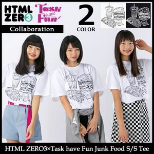 【11月末入荷予定】エイチティエムエル ゼロスリー HTML ZERO3 Tシャツ 半袖 メンズ タスク ハブ ファン ジャンク フード(Task have Fun)|icefield