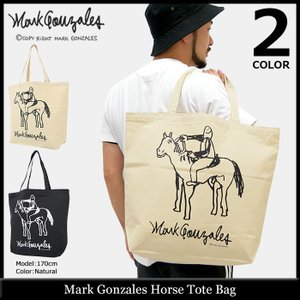マーク ゴンザレス Mark Gonzales トートバッグ ホース(MARK GONZALES Horse Tote Bag エコバッグ キャンバス MG17W-E06)|icefield