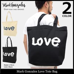 マーク ゴンザレス Mark Gonzales トートバッグ ラブ(MARK GONZALES Love Tote Bag エコバッグ キャンバス MG17W-E07)|icefield