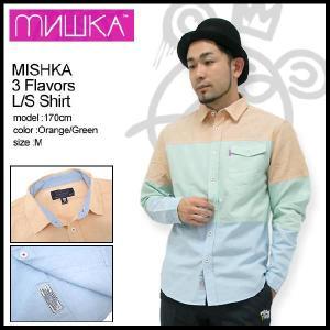 ミシカ MISHKA シャツ 長袖 3 フレイバーズ Shirts(mishka 3 Flavors L/S Shirt トップス メンズ FL121401B)|icefield