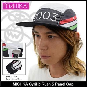 ミシカ MISHKA キャップ メンズ キリル ラッシュ 5 パネル(mishka Cyrillic Rush 5 Panel Cap メンズ・男性用 帽子 SP151733W)|icefield