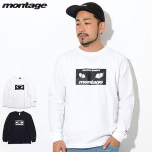 モンタージュ Tシャツ 長袖 montage メンズ キャット アイズ ボックス(montage C...