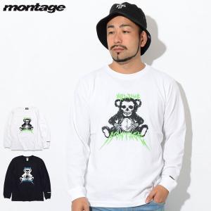 モンタージュ Tシャツ 長袖 montage メンズ ハグ ミー ベアー(montage Hug M...