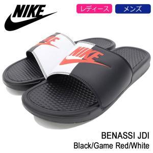 ナイキ NIKE サンダル レディース & メンズ ベナッシ JDI Black/Game Red/White(nike BENASSI JDI シャワーサンダル ブラック 343880-006)