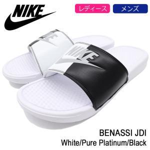 ナイキ NIKE サンダル レディース & メンズ ベナッシ JDI White/Pure Platinum/Black(BENASSI JDI シャワーサンダル ホワイト 343880-104)