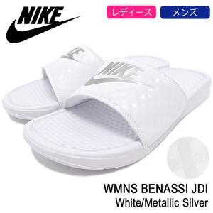 【送料無料】ナイキ NIKE サンダル レディース & メンズ ウィメンズ ベナッシ JDI White/Metallic Silver(WMNS BENASSI JDI 343881-102)
