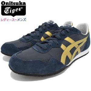 オニツカタイガー スニーカー Onitsuka Tiger レディース & メンズ セラーノ Navy/Gold(SERRANO ネイビー 靴 D109L-5094 TH109L-5094)