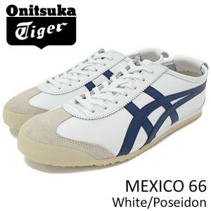 オニツカタイガー Onitsuka Tiger スニーカー メンズ 男性用 メキシコ 66 White/Poseidon(MEXICO 66 ホワイト D4J2L-0158 TH4J2L-0158)|icefield