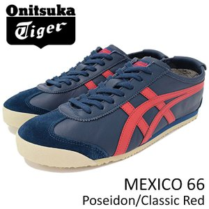 オニツカタイガー Onitsuka Tiger スニーカー メンズ 男性用 メキシコ 66 Poseidon/Classic Red(MEXICO 66 D4J2L-5823 TH4J2L-5823)|icefield