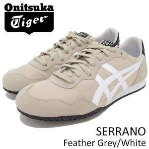オニツカタイガー Onitsuka Tiger スニーカー メンズ 男性用 セラーノ Feather Grey/White(Onitsuka Tiger SERRANO ベージュ D7B3L-1201)|icefield