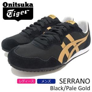オニツカタイガー Onitsuka Tiger スニーカー レディース & メンズ セラーノ Black/Pale Gold(Onitsuka Tiger SERRANO ブラック D7B3L-9094)