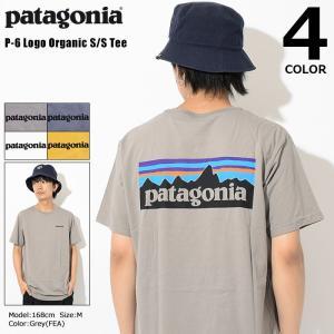 パタゴニア Patagonia Tシャツ 半袖 メンズ P-6 ロゴ オーガニック(P-6 Logo Organic S/S Tee カットソー トップス USAモデル 39151)