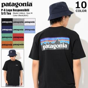 パタゴニア Patagonia Tシャツ 半袖 メンズ P-6 ロゴ レスポンシビリティー(P-6 Logo Responsibili S/S Tee トップス USAモデル 39174)