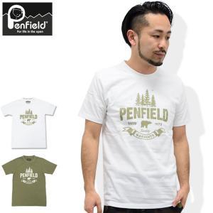 ペンフィールド Penfield Tシャツ 半袖 メンズ フォレスト キャンプ(Forest Camp S/S Tee トップス メンズ 男性用 PF-2016SS-0411)|icefield