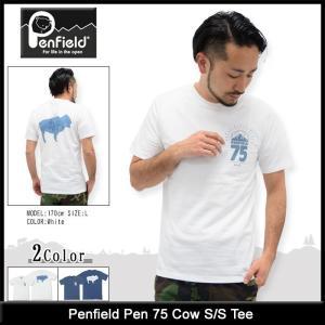 ペンフィールド Penfield Tシャツ 半袖 メンズ ペン 75 カウ(Pen 75 Cow S/S Tee カットソー トップス メンズ 男性用 PF-2016SS-0414)|icefield