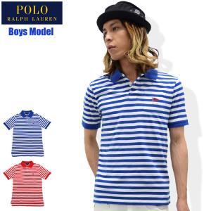 ポロラルフローレン POLO RALPH LAUREN ポロシャツ 半袖 ボーイズモデル レディース・メンズ対応サイズ ストライプド コットン(323 536705)|icefield