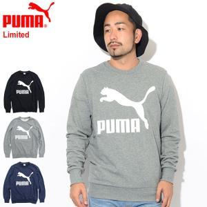 プーマ トレーナー PUMA メンズ クラシックス ロゴ クルー スウェット 限定(Classics...