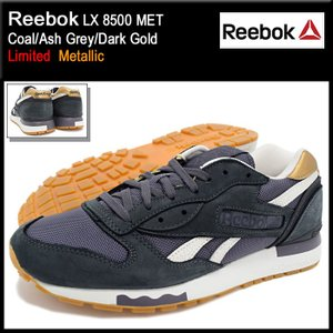 リーボック Reebok スニーカー メンズ 男性用 LX 8500 MET Coal/Ash Grey/Dark Gold 限定(LX 8500 MET Limited Metallic V67561)|icefield