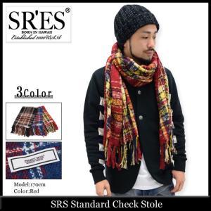 エスアールエス SRES ストール メンズ スタンダード チェック(SRS Standard Check Stole マフラー プロジェクトエスアールエス)|icefield