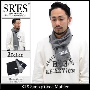 エスアールエス SRES マフラー メンズ シンプリー グッド(SRS Simply Good Muffler ストール プロジェクトエスアールエス)|icefield