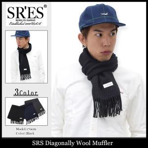 エスアールエス SRES マフラー メンズ ダイアゴナリー ウール(SRS Diagonally Wool Muffler ストール)|icefield