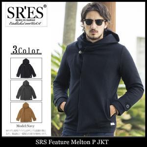 エスアールエス SRES ジャケット メンズ フィーチャー メルトン P(SRS Feature Melton P JKT P-Coat Pコート アウター ブルゾン) icefield