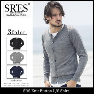 エスアールエス SRES シャツ 長袖 メンズ ニット ボタン(SRS Knit Button L/S Shirt カーディガン トップス)|icefield