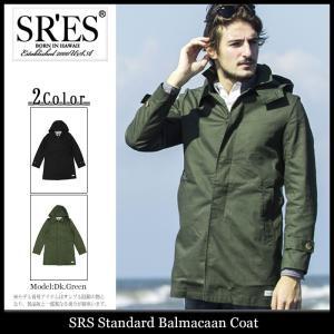 エスアールエス SRES ジャケット メンズ スタンダード バルマカーン コート(Standard Balmacaan Coat ステンカラーコート アウター)|icefield